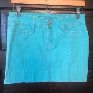 Gap Turquoise Mini Skirt